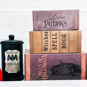 Halloween books potion tray decor bundle